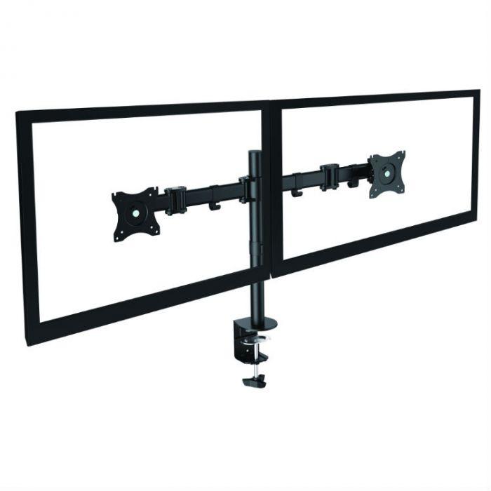Pharo monitorarm dubbel zwart met scherm